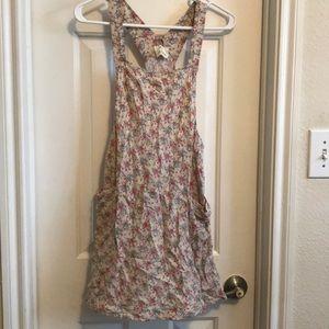 Floral Dress Overalls